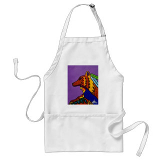Spirit of Wolf 3 by Piliero Adult Apron