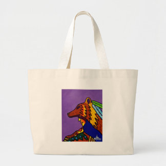 Spirit of Wolf 3 by Piliero Tote Bags