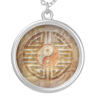 Spirit Of Yin & Yang Round Pendant Necklace