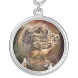 Spirit Owls Wearable Art Necklace