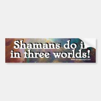 Spirit Passages Shamans do it in 3 worlds Sticker