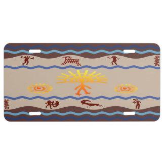 Spirit Path Rock Art License Plate
