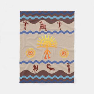 Spirit Path Rock Art Style Fleece Blanket