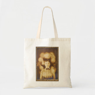 Spirit Photograph of Ghosts Surrounding a Woman Bag