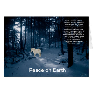 Spirit Pony in a Blue Wood Peace Card