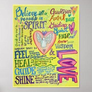 Spirit Prayer Inspirational Angel Poster Art Print