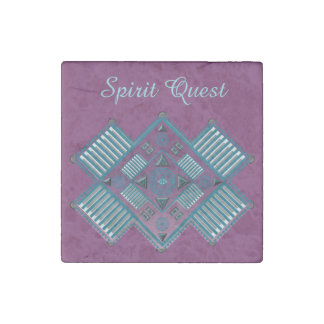 Spirit Quest Stone Marble Magnets 2x2 Stone Magnet