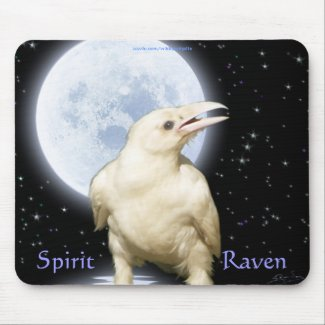 SPIRIT RAVEN Wildlife Birdlover Fantasy Art zazzle_mousepad