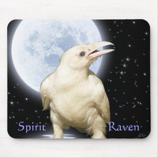 SPIRIT RAVEN Wildlife Fantasy Art Mouse Pad