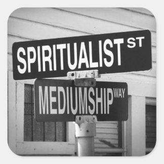 Spirit Road Square Stickers