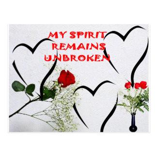 Spirit Rose/Heart Postcard