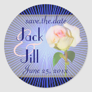 Spirit Rose WEDDING Save-the-Date Classic Round Sticker