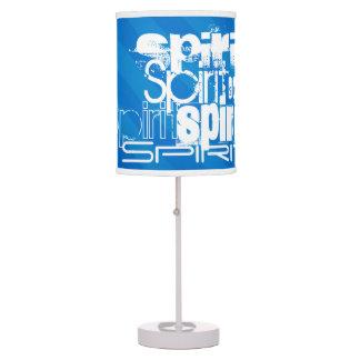 Spirit; Royal Blue Stripes Table Lamp