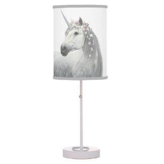Spirit Unicorn with Flowers in Mane Desk Lamp
