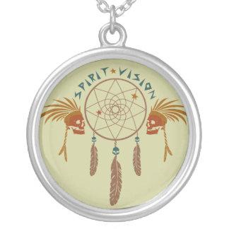 Spirit Vision Round Pendant Necklace