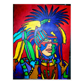 Spirit Warrior 1 by Piliero Postcard