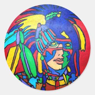 Spirit Warrior 1 by Piliero Classic Round Sticker