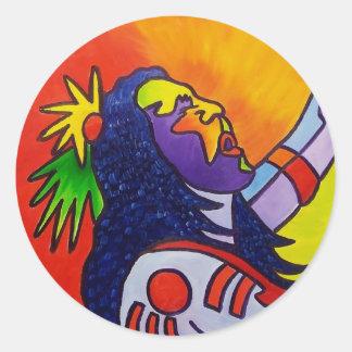Spirit Warrior by Piliero Classic Round Sticker