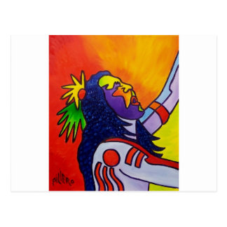 Spirit Warrior by Piliero Postcard