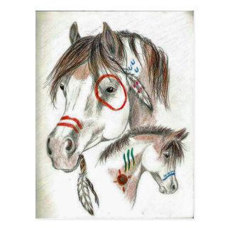 Spirit Warrior Ponies Postcard