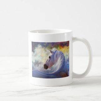 """""""Spirit"""" White Horse Mug"""