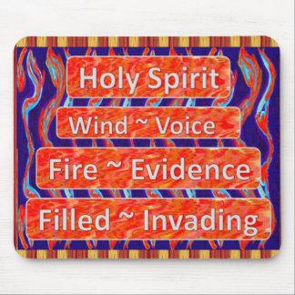 Spirit~Wind santo, fuego, llamas llenadas Mousepad Alfombrillas De Raton