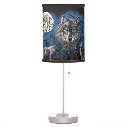 Spirit Wolf Desk Lamp