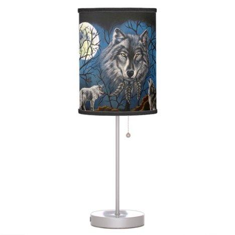Spirit Wolf Table Lamp