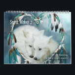"""Spirit Wolves 2 Art Calendar<br><div class=""""desc"""">Spirits Wolves 2 Art Calendar,  featuring the wolf art of Carol Cavalaris.  Calendar includes: white wolves,  black wolves,  blue wolves,  grey wolves.</div>"""