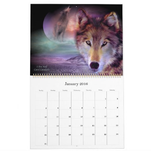 Spirit Wolves Art Calendar 2012