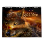 Spirit Wolves Art Calendar 2014