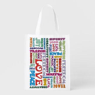Spirit Words affirmations Reusable Grocery Bag