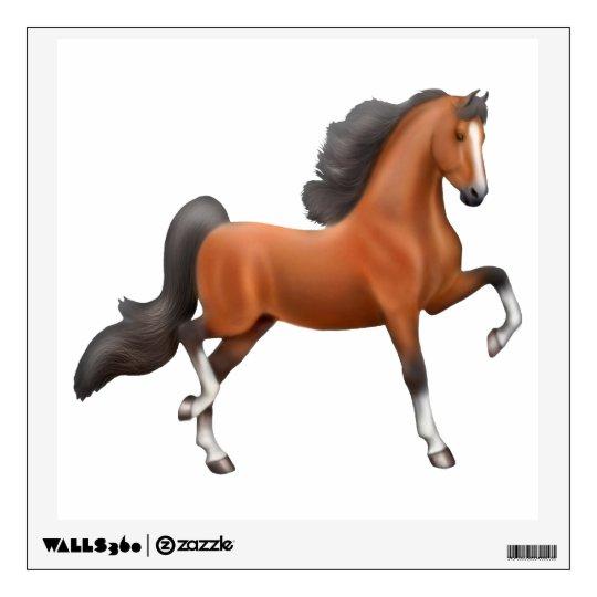 Spirited Bay American Saddlebred Horse Wall Decal