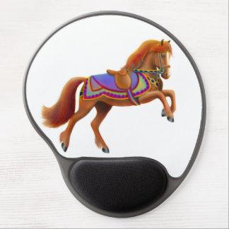Spirited Circus Parade Horse Gel Mousepad