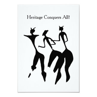 Spirited Dancers BHM Party Invitations