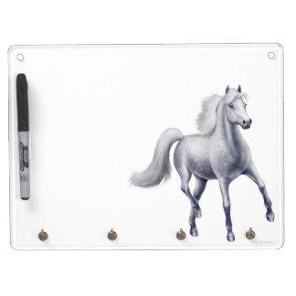 Spirited Dappled Gray Horse Dry Erase Board
