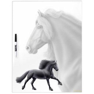 Spirited Friesian Stallion Dry Erase Board