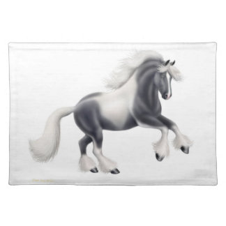 Spirited Gypsy Vanner Cob Horse Placemat