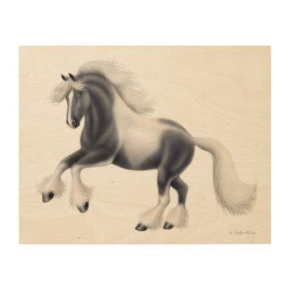 Spirited Gypsy Vanner Horse Wood Wall Art