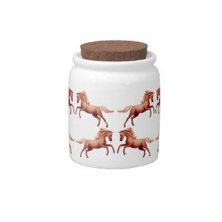 Spirited Horses Candy Jar