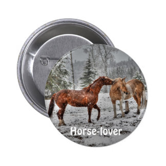 Spirited Horses in the Snow series Pin
