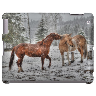 Spirited Horses in the Snow series