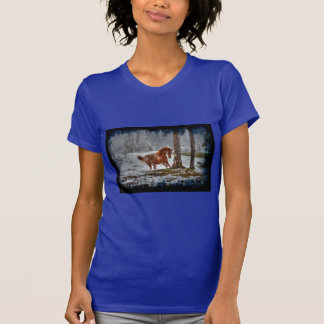 Spirited Horses in the Snow series T-Shirt