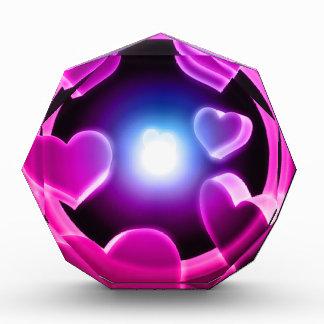 Spirited Hot Pink Glow Hearts Award