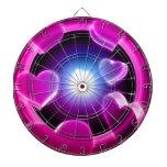 Spirited Hot Pink Glow Hearts Dartboard