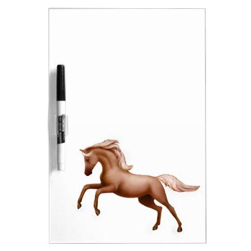 Spirited Palomino Horse Dry Erase Board
