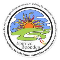 Spirited Spondys Classic Round Sticker