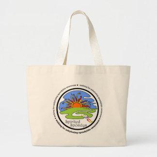 Spirited Spondys Large Tote Bag