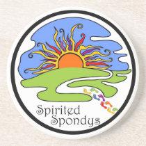 Spirited Spondys Sandstone Coaster