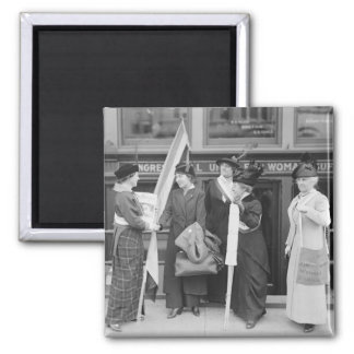 Spirited Suffragettes, 1914 2 Inch Square Magnet